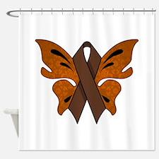 BROWN RIBBON Shower Curtain