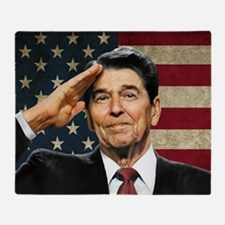 Reagan Flag Throw Blanket