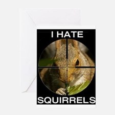 Squirrel/Scope Greeting Card