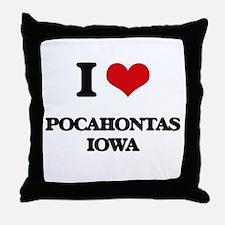 I love Pocahontas Iowa Throw Pillow