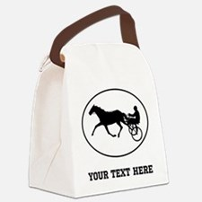 Harness Racing Oval (Custom) Canvas Lunch Bag