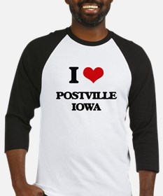 I love Postville Iowa Baseball Jersey