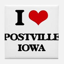 I love Postville Iowa Tile Coaster