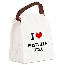 I love Postville Iowa Canvas Lunch Bag
