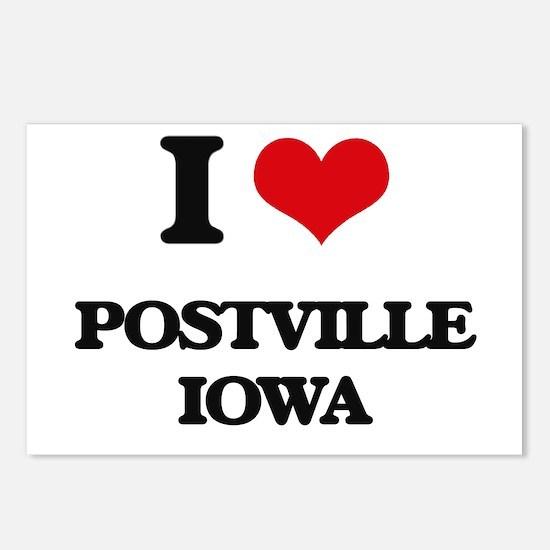 I love Postville Iowa Postcards (Package of 8)