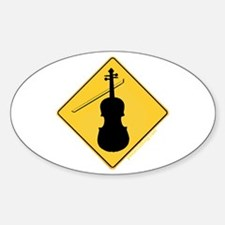 Crossing Zone Violin Oval Decal