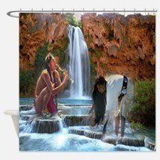 Water Song II Shower Curtain