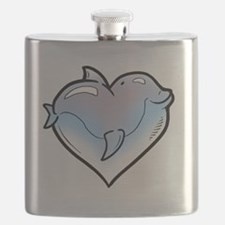 Dolphin Hearts Flask
