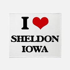 I love Sheldon Iowa Throw Blanket