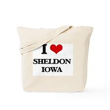 I love Sheldon Iowa Tote Bag