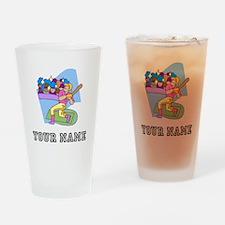 Baseball Star (Custom) Drinking Glass