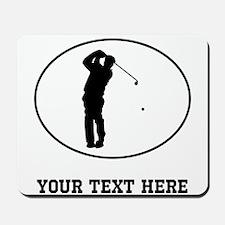 Golfer Silhouette Oval (Custom) Mousepad