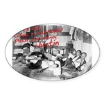 Awesome College Opium Oval Sticker