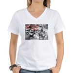 Awesome College Opium Women's V-Neck T-Shirt
