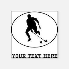 Field Hockey Player Silhouette Oval (Custom) Stick