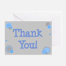 Thank You (grey & blue) Greeting Card