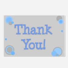 Thank You (grey & blue) Postcards (Package of 8)