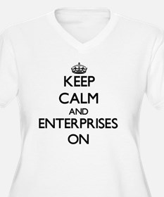 Keep Calm and ENTERPRISES ON Plus Size T-Shirt