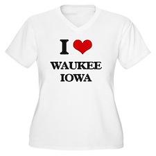 I love Waukee Iowa Plus Size T-Shirt