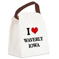 I love Waverly Iowa Canvas Lunch Bag