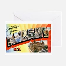 Albany New York Greetings Greeting Card