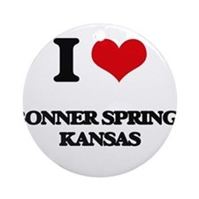 I love Bonner Springs Kansas Ornament (Round)