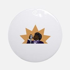 James Brown Ornament (Round)