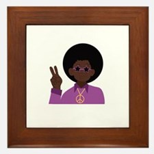 Afro Hippie Framed Tile