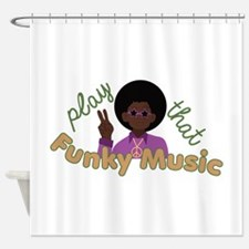 Funky Music Shower Curtain