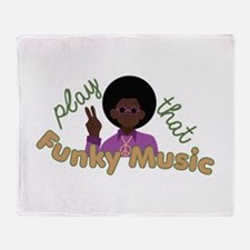 Funky Music Throw Blanket