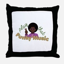 Funky Music Throw Pillow