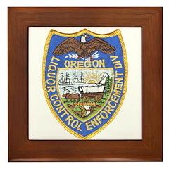 Oregon Liquor Control Framed Tile