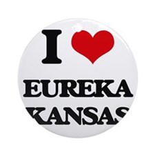 I love Eureka Kansas Ornament (Round)