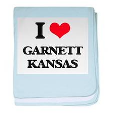 I love Garnett Kansas baby blanket