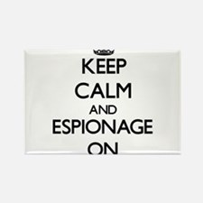 Keep Calm and ESPIONAGE ON Magnets