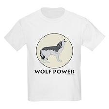 Wolf Power Kids T-Shirt