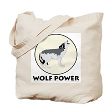 Wolf Power Tote Bag