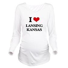 I love Lansing Kansa Long Sleeve Maternity T-Shirt