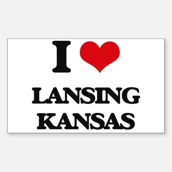 I love Lansing Kansas Decal