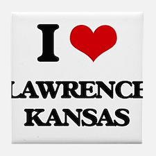I love Lawrence Kansas Tile Coaster