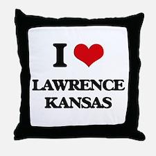 I love Lawrence Kansas Throw Pillow