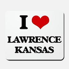 I love Lawrence Kansas Mousepad