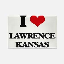 I love Lawrence Kansas Magnets