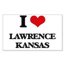 I love Lawrence Kansas Decal