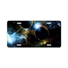 The universe of planets Aluminum License Plate