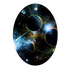 The universe of planets Ornament (Oval)