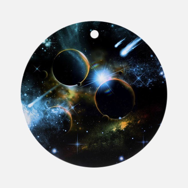 The universe of planets Ornament (Round)