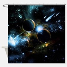 The universe of planets Shower Curtain