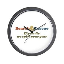 If You Die We Split Your Gear Wall Clock