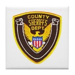County Sheriff's Dept. Tile Coaster